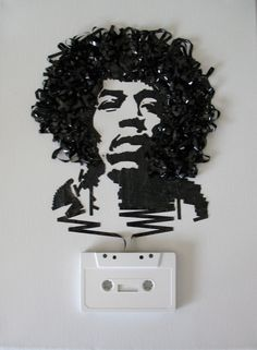 jimi hendrix tape art by iri5