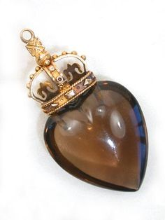 Mary Queen of Scots Heart Pendant, (Heart is probably made of smoky quartz, the stone of Scotland)...Lee