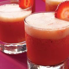 Strawberry Coolers  This bright, fruity drink is the perfect way to celebrate Mom's sweet side.    Recipe: Strawberry Coolers