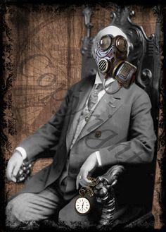 creepy gas-masked man