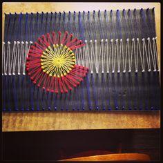 String Art. Colorado Flag.