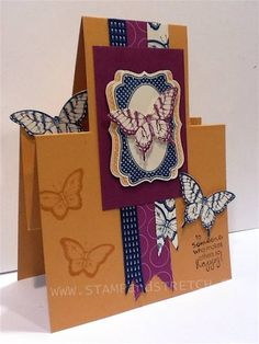 CC396 Butterfly Step Card by Pammyjo - Cards and Paper Crafts at Splitcoaststampers