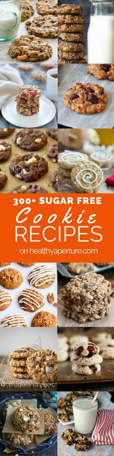 More than 300 sugar free cookie recipes perfect for healthy holiday baking!