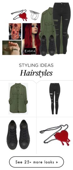 """""""~Emma"""" by lukeimbatman on Polyvore featuring Zara, Topshop, Converse, First People First, women's clothing, women, female, woman, misses and juniors"""