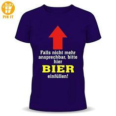 Trinkspruch Fun T-Shirt - Falls nicht mehr ansprechbar bitte hier Bier einfüllen! Größe L - T-Shirts mit Spruch | Lustige und coole T-Shirts | Funny T-Shirts (*Partner-Link)