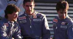 It was in the late 1980ies that a junior team was set up, based on an idea of Sauber's business partner of the time, Jochen Neerpasch. The drivers selected were Michael Schumacher, Heinz-Harald Frentzen and Karl Wendlinger. Peter Sauber paved the way for all three to enter Formula One.  Picture: later F1 drivers Michael Schumacher, Karl Wendlinger and Heinz-Harald Frentzen in Sauber team gear, 1990.