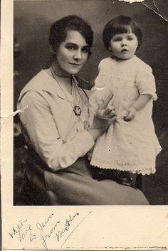 My Grandmother and Aunt Wynn around the turn of the century.