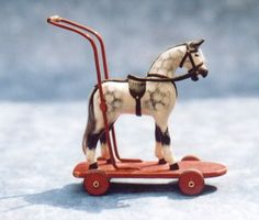 Karen Fitzhenry miniature toy horse. (wonder if she used a plastic horse? turned out great)