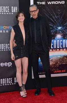 Charlotte Gainsbourg a également posé avec Jeff Goldblum