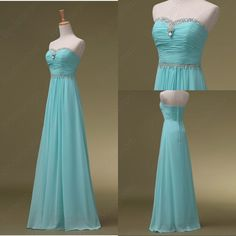 Sky Blue Prom Dresses, Long Bridesmaid Dresses, Long Evening Dresses, Strapless Evening Gowns, Formal Dress, Party Dresses Custom