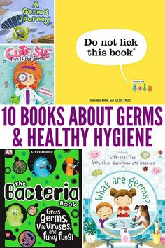 10 Books to Inspire Good Handwashing & Healthy Hygiene Habits. Includes titles for toddlers and preschoolers, kindergarten through to early grade school. habits 10 Books to Inspire Good Handwashing & Healthy Hygiene Habits Preschool Books, Toddler Preschool, Preschool Activities, Germs For Kids, Health Lessons, School Counselor, Health And Safety, First Day Of School, Healthy Habits