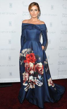 Camilla Belle from Carolina Herrera's Most Memorable Red Carpet Moments  This navy ball gown is a strong contender for the designer's best design of all time.