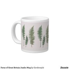 Ferns of Great Britain Jumbo Mug