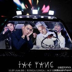 TOP, G-Dragon ,Daesung ,Seungri , and Taeyang #BIGBANG - Ringa Linga Come visit kpopcity.net for the largest discount fashion store in the world!!