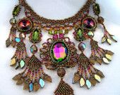 The Peacock - Beaded Necklace
