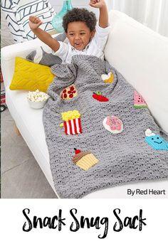 Snack Snug Sack free crochet pattern in Super Saver yarn.