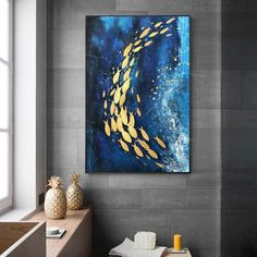 Gold Fish Painting, Acrylic Painting Canvas, Abstract Canvas, Painting Frames, Abstract Paintings, Basic Art Techniques, Africa Art, Fish Art, Mural Art