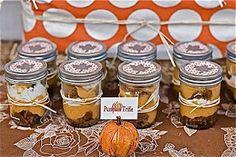 Mason Jar Pumpkin Trifle