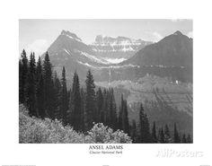 Ansel Adams Glacier National Park Art Print Poster Poster at AllPosters.com