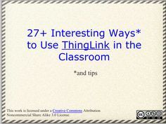Educational Technology and Mobile Learning: Teachers Guide to Creating Rich Interactive Visuals Using ThingLink
