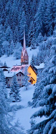 Church in Dolomites, Italy