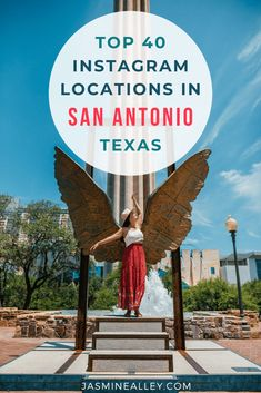 Looking for Instagrammable places in San Antonio? Ive compiled a list of the top 40 photo locations in San Antonio, Texas. So if youre looking for things to do in San Antonio, look no further! From murals and San Antonio missions to the prettiest cafes and best parks, youll find it all here! These forty carefully selected photo spots are all unique and beautiful places in San Antonio that you wont want to miss. #sanantonio #travel #instagram #texas