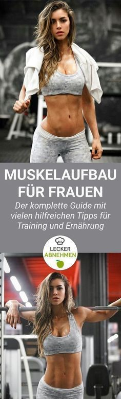 Muskelaufbau als Frau – der komplette Guide. Du willst Muskeln aufbauen und wei… Muscle building as a woman – the complete guide. You want to build muscle and do not even know where to start? Here you will find many helpful tips on training and nutrition. Fitness Workouts, Tips Fitness, Sport Fitness, Yoga Fitness, Fun Workouts, Health Fitness, Male Fitness, Fitness Planner, Fitness Women