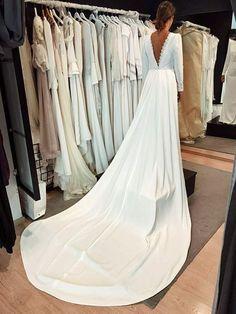 Ceremony dress Wedding Dress Shopping, Dream Wedding Dresses, Designer Wedding Dresses, Bridal Dresses, Wedding Gowns, Wedding Wishes, Wedding Bride, Ceremony Dresses, Dress Images
