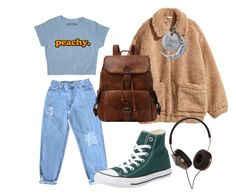"""""""Chill"""" by matildcurley on Polyvore featuring H&M, Levi's, Converse and Frends"""
