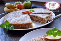 Fitti Konyha: Fitti paleo almás pite (sütés nélkül) Cake Recipes, Vegan Recipes, Healthy Desserts, Sweet Treats, Good Food, Low Carb, Cooking, Breakfast, Fitt