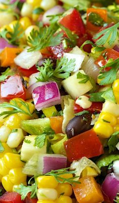 MEXICAN CHOPPED SALAD RECIPE ~ The freshest, healthiest, most summery salad. It's loaded with fabulous Southwestern flavor.
