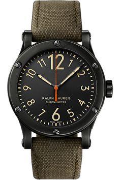 Ralph Lauren RL67 Chronometer Black �aged� Stainless Steel Mens Watch � R0220900 � Ben Garelick Jewelers