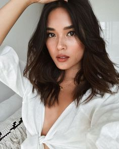 nice looks! I think I will cut my hair to this length after the wedding. Weather is nice looks! I think I will cut my hair to this length after the wedding. Trendy Haircuts, Haircuts For Long Hair, Cool Hairstyles, Holiday Hairstyles, Black Hairstyles, Long Brunette Hairstyles, Mid Length Hairstyles, Mid Haircuts, Asian Hairstyles