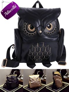 [Visit to Buy] Fashion Women's Backpack 2017 Cute Owl Backpacks PU Leather School Bags For Teenagers Girls Female Rucksack Sac Mochila Feminina #Advertisement