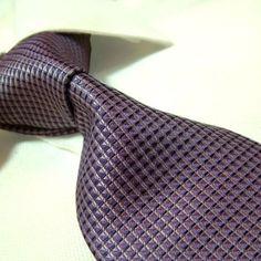 Towergem 100% Silk Purple Tie For men Necktie « Clothing Impulse
