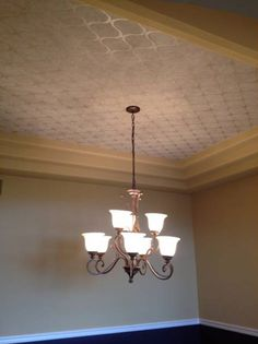 Wallpaper in a tray ceiling...or stencil with clear gloss for master bedroom tray ceiling