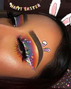 Looking for for ideas for your Halloween make-up? Browse around this site for unique Halloween makeup looks. Cute Makeup Looks, Makeup Eye Looks, Eye Makeup Art, Colorful Eye Makeup, Crazy Makeup, Pretty Makeup, Skin Makeup, Eyeshadow Makeup, Amazing Makeup