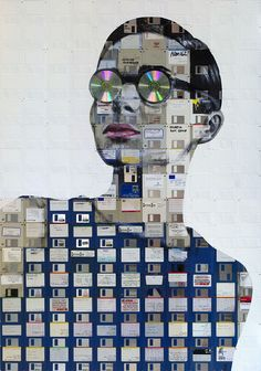 Magazine - Floppy Disk Paintings by Nick Gentry