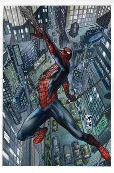 Spiderman cover issue and by Simone Bianchi Comic Book Characters, Comic Book Heroes, Marvel Characters, Comic Character, Comic Books Art, Comic Art, Hq Marvel, Marvel Comics Art, Marvel Heroes