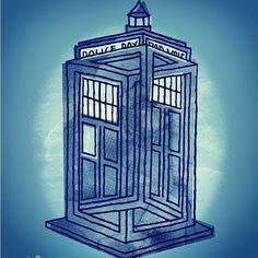 The TARDIS meets Escher.