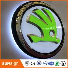 Custom Illuminated LED Car Logo And Their Name Electronic Signs - Car sign with namescar logos and names cars pinterest car logos cars and