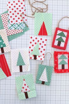 Handmade Christmas Ornament Ideas | quilting | Diary of a Quilter Sewn Christmas Ornaments, Christmas Tree Quilt, Felt Christmas Decorations, Quilted Ornaments, Christmas Sewing, How To Make Ornaments, Christmas Projects, Handmade Christmas, Felt Projects