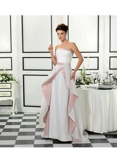 Vintage Strapless Taffeta Bridal Wedding Dresses