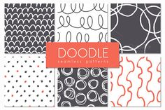 FREE DOWNLOAD! Doodle. Seamless Patterns Set by Curly_Pat on Creative Market