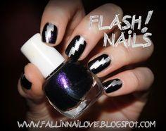 fall in ...naiLove!: flash! nails tutorial...