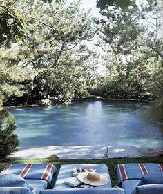 Natural looking pool.