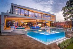 Cool blue villa swimming pool