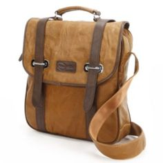AmeriLeather+Granger+Leather+Two-Tone+Messenger+Bag