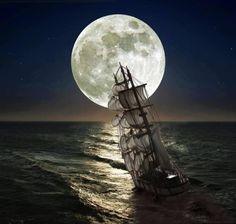 <3 La razón humana es una gota de luz en un mar de tinieblas...   por eso mi razón no tiene cordura porque voy a  seguir el camino hacia la luna... hacia un nuevo mundo...