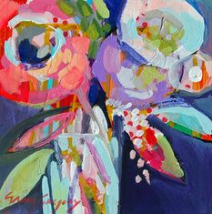 Erin Gregory 8x8  Blooming Color 6  @ Two Sisters Gallery in Columbus, GA